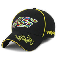 Wholesale Snapback Free Shiping - Free Shiping Wholesale Rossi 46 Embroidery Fashion Men Women Snapback Caps Hat Motorcycle Racing Cap VR46 Sport Baseball Cap