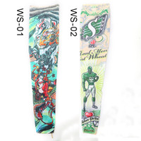 Wholesale Design Arm Sleeve Dresses - Free shipping 20PCS Tattoo Arm Sleeves Different Styles Available Fashion Design Tattoo Dress Sleeve For Men & Women