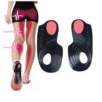 Wholesale Orthopedic Silicone Insole - Silicone 3 4 length X O-Legs Orthopedic Insoles Flat Foot Orthotics corrector Arch Support Massaging Shoe Insole Pad for Shoes