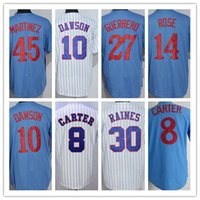 Maglie di Throwback a Montreal Vladimir Guerrero Pete Rose Gary Carter Andre Dawson Tim Raines Pedro Martinez <b>Larry Walker</b> Delino DeShields