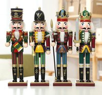 Wholesale China Curtains Wholesale - 30cm Nutcracker soldiers puppe wholesale 2pc Zakka creative Home Furnishing Christmas ornaments creative decoration