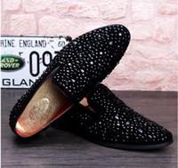 Wholesale Micro Glitter - 2017 Men Glitter Shoes New Mens Fashion Casual Flats Men's Designer Dress Shoes Sequined Loafers Men's Platform Driving Shoes NXX441