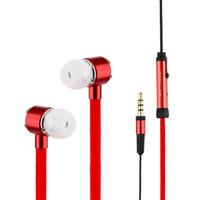 nuevo huawei al por mayor-Auriculares de 3,5 mm manera a estrenar del auricular estéreo del metal cordones de los auriculares para iPhone Samsung Huawei MP3 MP4
