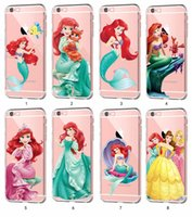 Wholesale Iphone Little Mermaid - The Little Mermaid CLEAR TPU custom Print Case for Apple iPhone 7 7 Plus 6 6S Plus 5s 5c