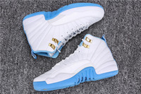 Wholesale Basketball Times - 2016 Time-limited Hight Cut Unisex Cotton Fabric New Fashion Retro 12 Gs University Blue Melo Sneakers Mens Basketball Shoes