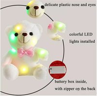Wholesale teddy bear stuffed animals resale online - 20cm Creative Light Up LED Teddy Bear Stuffed Animals Plush Toy Colorful Glowing Teddy Bear Christmas Gift for Kids