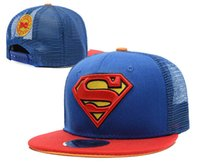 Wholesale Hat Child Supermen - Superman Kids Base Ball Hats djustable Caps Sports Caps Snap Back caps Fashion Sun Hat Snapback Ball Caps for children hq