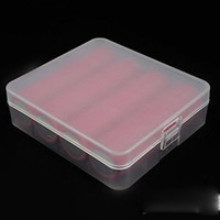 Wholesale Hold Battery - Portable 18650 Battery Case Holding 4 Pcs 18650 Battery Storage Box Multi Colors For 18650 18350 14500 Battery DHL Free Shipping