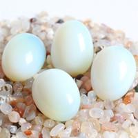 piedras preciosas de cristal de artesanía al por mayor-ENVÍO LIBRE al por mayor 4 unids snatural crystal egg Tallado cuarzo gemas huevos Chakra Healing Reiki Craft decoración de piedra regalo de regalo MADERA GRATIS STAND