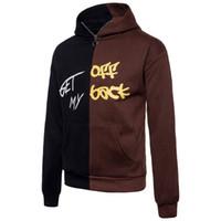 Wholesale Cool Sports Hoodies Sweatshirts - Winter Sport Men Sweatshirt With Hoodies Warm Plus Size Hip Hop Sweatshirt For Homme Patchwork Cool Sweatshirt For Mens J171005