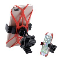 universal-silikon-gps-halter großhandel-Fahrrad Motorrad Lenker Halterung Telefon Halter Mit Silikon Unterstützung Band Für Iphone Samsung XIAOMI GPS Universal
