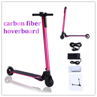 Wholesale Folding Bicycle 22 - Carbon Fiber Electric Folding LED Scooters Lightest Fold-able Portable Two Wheels Bicycle Smart Scooters Range 22~30km No Tax UPS Shipping