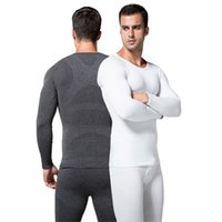 Wholesale Long Sleeve Shaper - Wholesale-Mens Boys Ultra-Soft Body Shaper Compression Thermal Long Sleeve Under JohnsTop