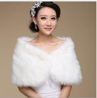 Wholesale Bridesmaids Faux Fur - Cheapest 2016 Wedding Wraps For Wedding Bridesmaid Dresses Capped Sleeveless Winter Mixed Style Faux Fur Bridal Bolero Jackets