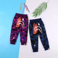 Wholesale Children Trousers Boy - Boys and Girls Fashion Cartoon Shark Camouflage Cotton Active Trousers for Children Kids Autumn Fashion Brand Long Pants