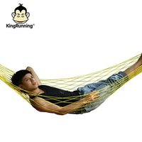 Wholesale max loads - 2016 FEDEX Net Hammocks hot Summer Lightweight Nylon meshy hammock light and portable Single Max load 100KG 200*80 cm mix color