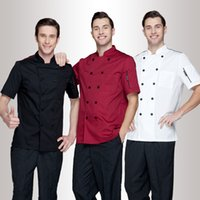 Wholesale Uniform Work Shirts - Fashion chef coat hotel restaurant chef working coat kitchen uniform
