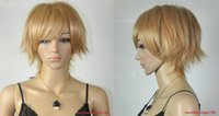 Wholesale Hot Sexy Ladys - 100% Brand New High Quality Fashion Picture full lace wigs>>Hot Sell Fashion Sexy Short Light Brown Straight Women's Ladys Hair Wig