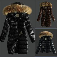 Wholesale Womens Black Nylon Shorts - France brand Women Long   short Winter Down Jacket Womens Slim Female Coats Thicken fur Parka Down Coat Clothing Hooded Parkas
