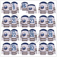 Wholesale Men Winter Jack - 2018 Buffalo Sabres Winter Classic Jerseys #15 Jack Eichel 9 Evander Kane 23 Sam Reinhart 90 Ryan O Reilly White Stitched Hockey Jersey