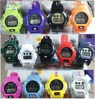 Wholesale G Shock Watch Wholesale - New 10pcs digital shining watch g watch silicone sport 5600 shocked watch 6900 with metal screw