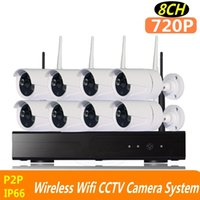Wholesale Ip Camera Factory - 720P 8ch wifi cctv kits Wireless NVR CCTV System outdoor indoor IP camera set for home factory office 500m cascade mode ann