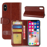 Custodia in pelle PU Flip Case Kickstand Carta di credito Soldi foto slot per IPHONE X iPhone 8 8PLUS iPhone7 7PLUS DHL LIBERA il trasporto