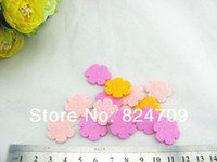 Wholesale Mini Felt Flowers - Wholesale Mix colors 2*2cm Mini Non-woven Mini Felt Flower Kids DIY Children Hairband Fashion Accessories