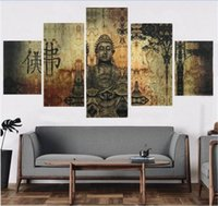 Wholesale buddha paintings free for sale - Group buy 2016 Buddha Print Oil Painting On Canvas Home Decoration Home Decor On Canvas Hotel Decoration Painting Unframed