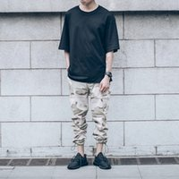 Wholesale Camouflage Cargo Pants Men Draw String Leg Opening Casual Mens Pants Camo Denim Pants Trousers Kanye West