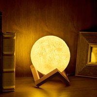 mais novo 8-20cm 3D Lunar Light LED Lua Night Light Lua Night Touch Lamp Romatic Lights Quarto lâmpada de mesa Presentes Creative Party Supply wn305
