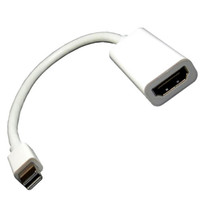 displayport dvi cable adaptador al por mayor-Mini DP del puerto de la exhibición de DisplayPort del rayo de la alta calidad del envío libre al cable del adaptador de HDMI para el aire de Macbook favorable de Apple Mac
