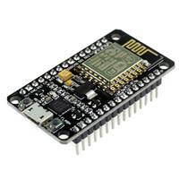 junta de desarrollo usb al por mayor-Al por mayor-Nuevo módulo inalámbrico NodeMcu Lua WIFI Internet de cosas basado en el tablero de desarrollo ESP8266 con antena Pcb y puerto USB nodo MCU