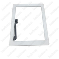 Wholesale Ipad2 Home Button - 200PCS Touch Screen Glass Panel with Digitizer for iPad 2 3 4 with Adhesive Home Button Assembly Black and White