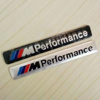 Wholesale Bmw E36 Grill - Wholesale I M Performance Motorsport Metal Logo Car Sticker Aluminum Emblem Grill Badge for BMW E34 E36 E39 E53 E60 E90 F10 F30 M3 M5 M6