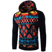 ince hoody sweatshirt toptan satış-Hoodies Erkekler Hip Hop Erkek Hoodie Baskı Uzun Kollu Pamuklu Kazak Erkekler Slim Fit Erkekler Hoody