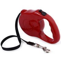 Wholesale cat training collars - 5m 3m Retractable Dog Leash Lead One-handed Lock Training Pet Puppy Walking Nylon Leashes Adjustable Dog Collar for Dogs Cats