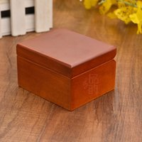 Wholesale Wood Castles Wholesale - Tune Castle in the sky mini wooden musical box with mirror 7.5*6.5*4.8CM wood color with golden msucial movement