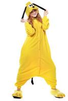 Wholesale Novelty Sleepwear - Free DHL Goofy Adult Kigurumi Homewear Pajamas Cosplay Costume Women Men Nightwear Hooded Sleepwear Novelty Sleepsuit Halloween Gift K60L