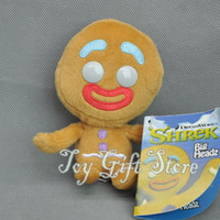 """Wholesale Gingerbread Man Wholesale - Free Shipping EMS Cute Gingerbread Man 4.5"""" SHREK 4 Plush Doll Stuffed Toy For Children Gift New"""