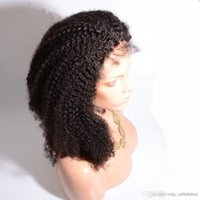 Indian Short Afro Kinky Curly Full Lace Wigs cheveux indigènes indiens Afro Kinky Lace Front Hair Hair Hair couleur naturelle Livraison gratuite