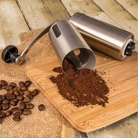 Food Mills Metal ECO Friendly Stainless Steel Manual Coffee Bean Grinder Mill Kitchen Grinding Tool Milling Cutter Machine Kitchen Accessories H15456