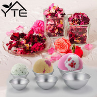 Wholesale bath bomb moulds resale online - New Useful Bath Bomb Molds Mould Aluminum Ellipsoid Bath Bomb D Cake Mold Pan Baking Mold Pastry Tools