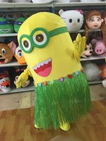 Wholesale Mascot Character Minion - despicable minion mascot costume cartoon character fancy dress adult size wholesale price for sale free shipping