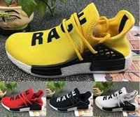 Wholesale Williams Carbon - With Original Box+Real Carbon Fiber NMD Pharrell Williams Human Race Boost Humanrace NMD Fashion Casual Running Shoes Size 36-48