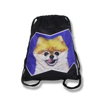 Wholesale Dog Gym - Original draw string backpack The dog gym bag men and women bags lovers beam mouth bags