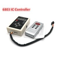 Wholesale Rgb Led Strip Ic - IC 6803 RF RGB LED Controller Remote Wifi for 5050 RGB SMD Magic Dream Color Chasing LED Strip Light 133 Program