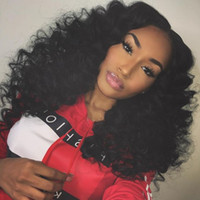 Wholesale afro curly hair wigs for sale - Group buy Glueless Lace Front Wig Brown Black Afro Kinky Curly Lace Wigs for Black Women Heat Resistant Synthetic Hair Wigs with Baby Hair