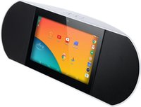 Wholesale tablet quad built for sale - Wireless Smart Speaker WiFi Internet Radio Powered By Android Kitkat with Built in Inch Quad Core Tablet and Google Play
