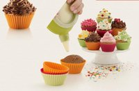 Wholesale chocolate jellies - 5cm Silicone Cupcake liner Cake Chocolate Cake Muffin Liners Pudding Jelly Baking Cup Mold
